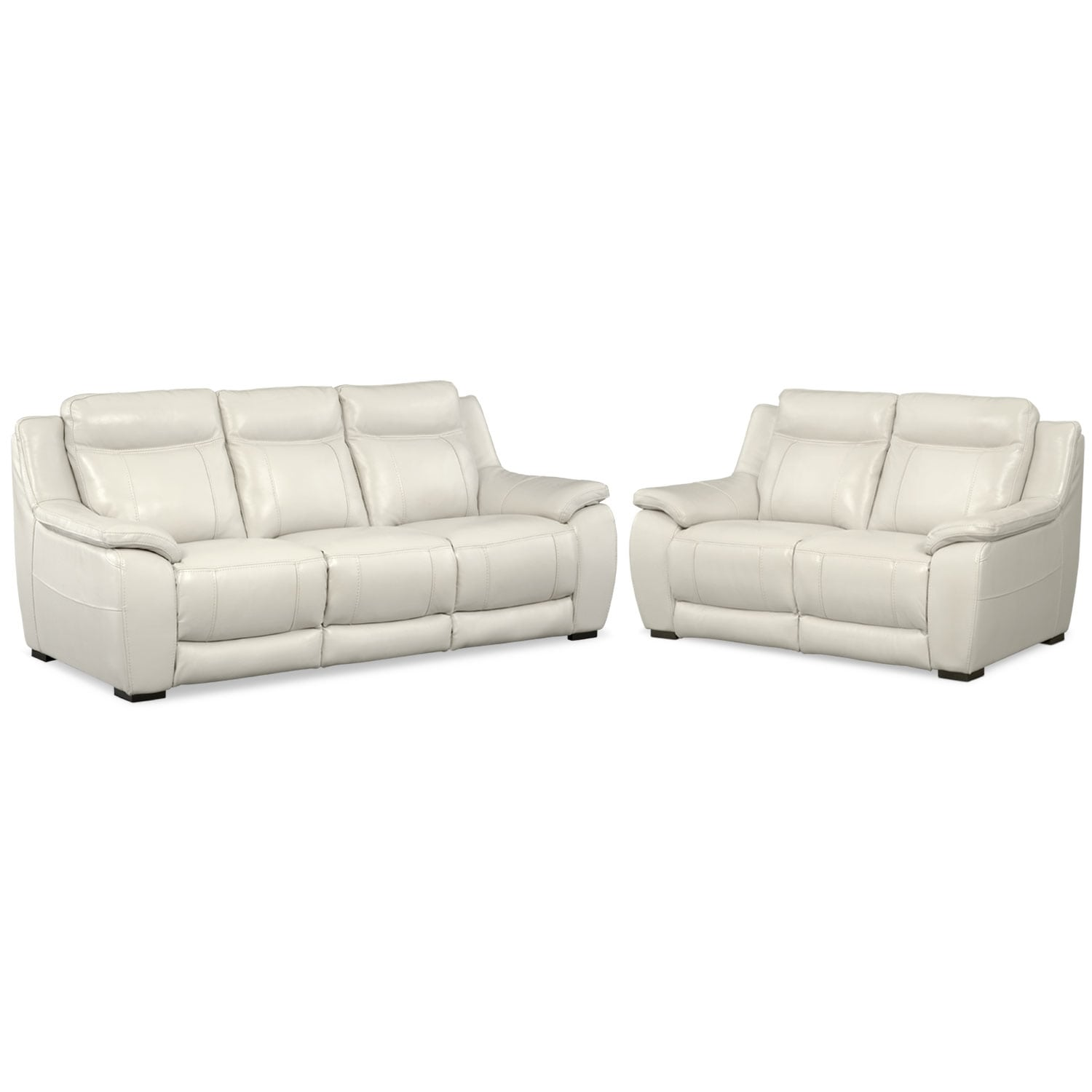 Lido Sofa And Loveseat Set Ivory American Signature Furniture