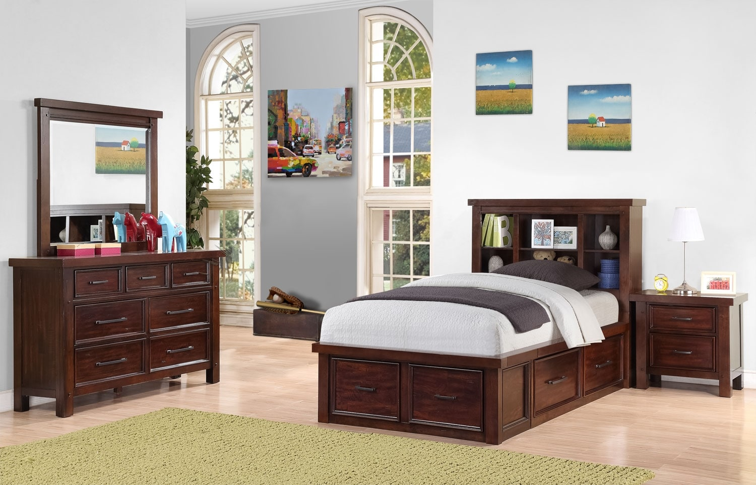 sonoma youth 6 piece bookcase storage bedroom package full the