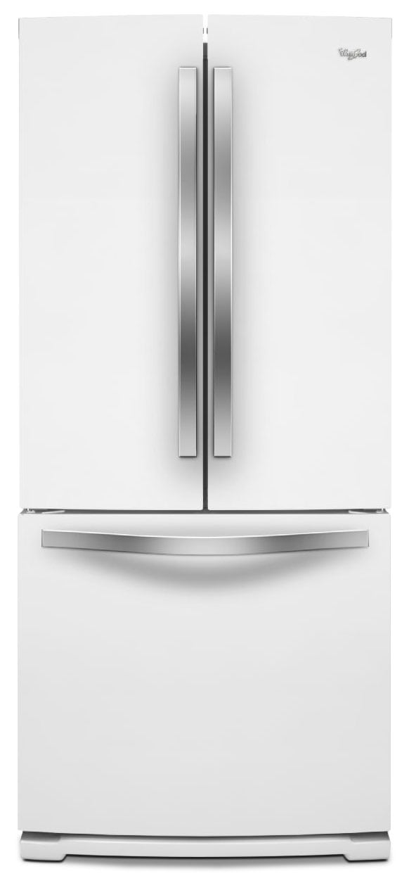 Refrigerators and Freezers - Whirlpool 20 Cu. Ft. French-Door Refrigerator – White Ice