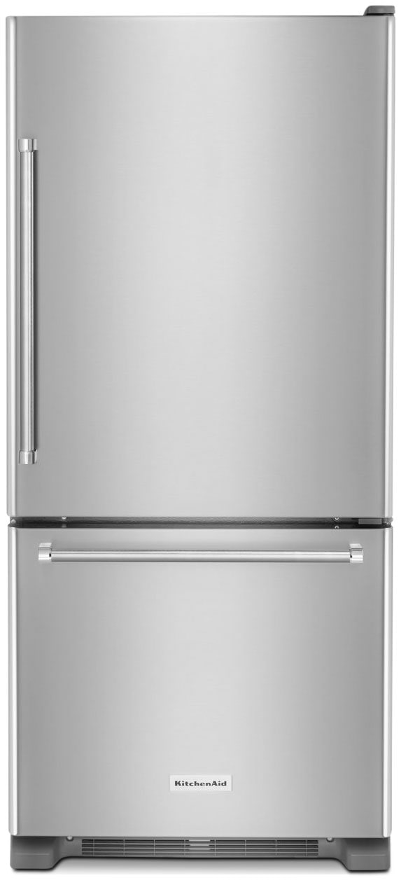 Refrigerators and Freezers - KitchenAid 19 Cu. Ft. Bottom-Mount Refrigerator – KRBR109ESS