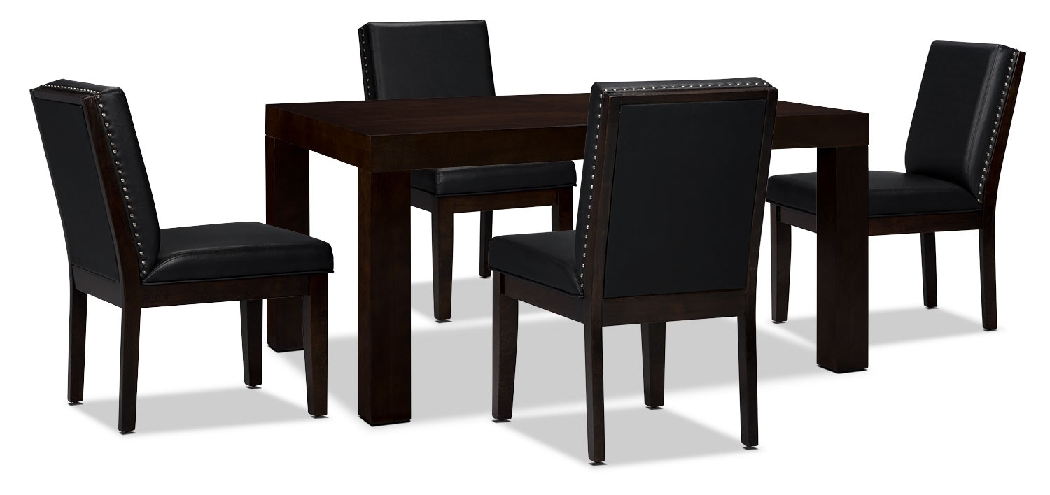Dining Room Furniture - Couture 5-Piece Dining Package – Black