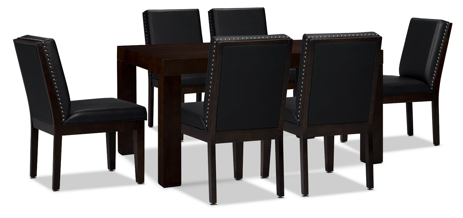 Dining Room Furniture - Couture 7-Piece Dining Package – Black