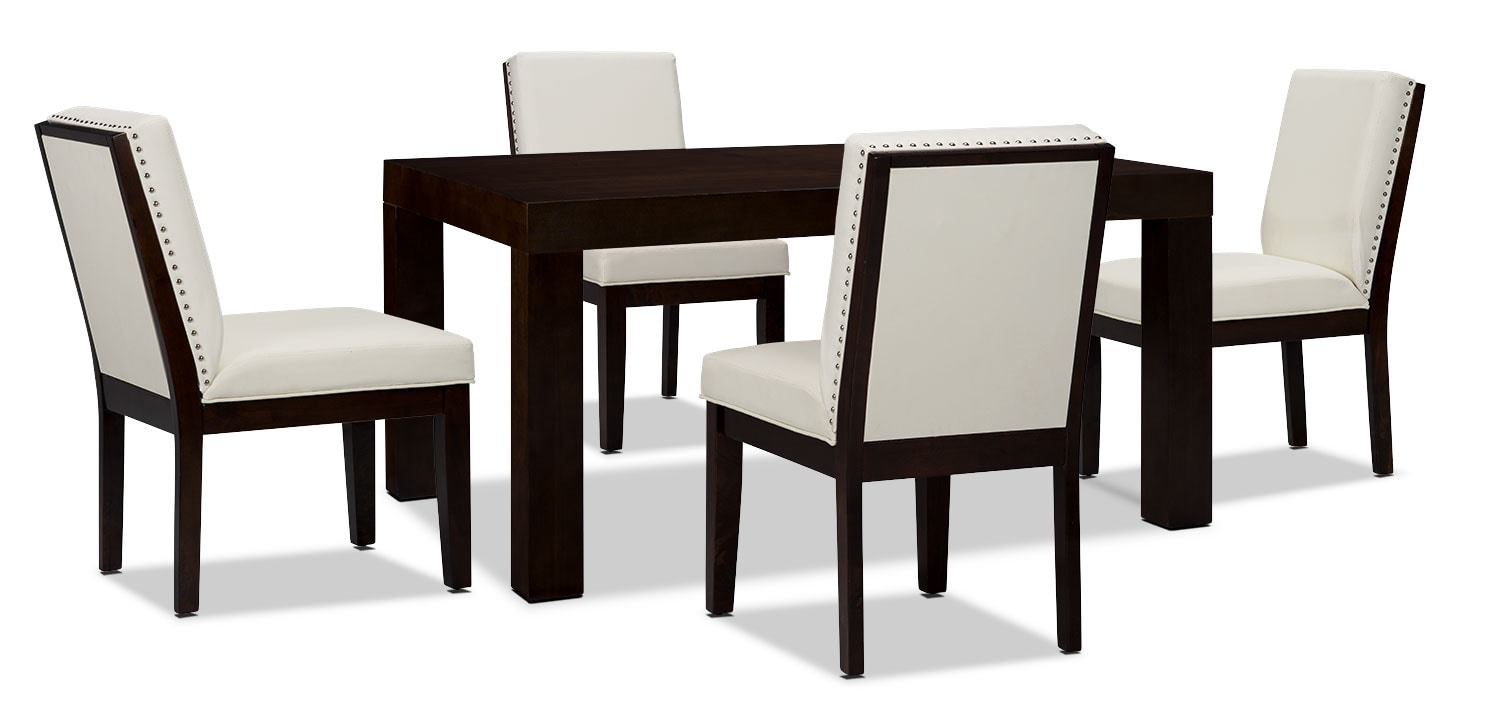 Dining Room Furniture - Couture 5-Piece Dining Package – White