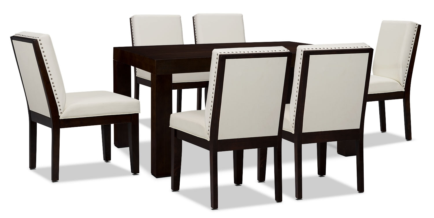 Dining Room Furniture - Couture 7-Piece Dining Package – White