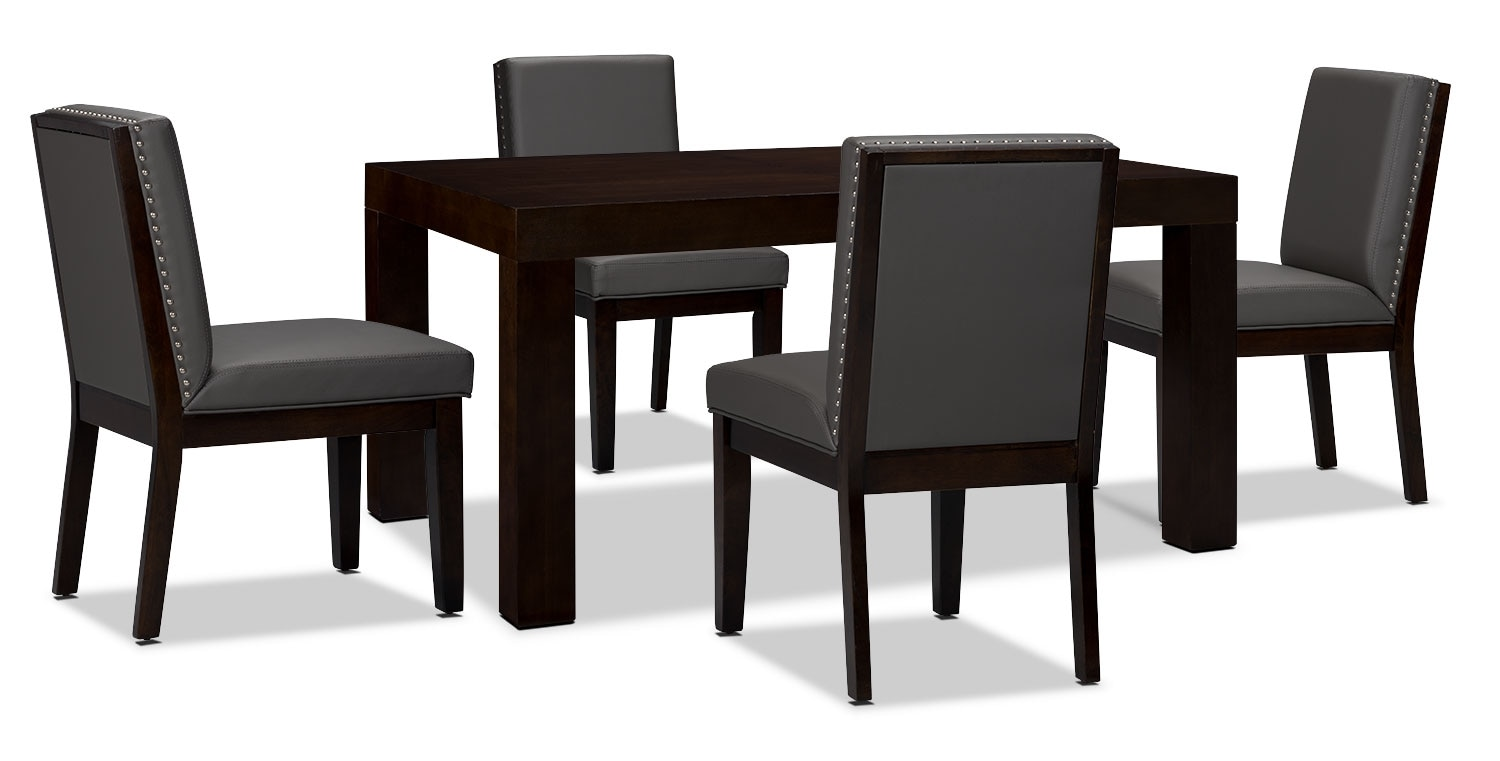 Dining Room Furniture - Couture 5-Piece Dining Package – Grey