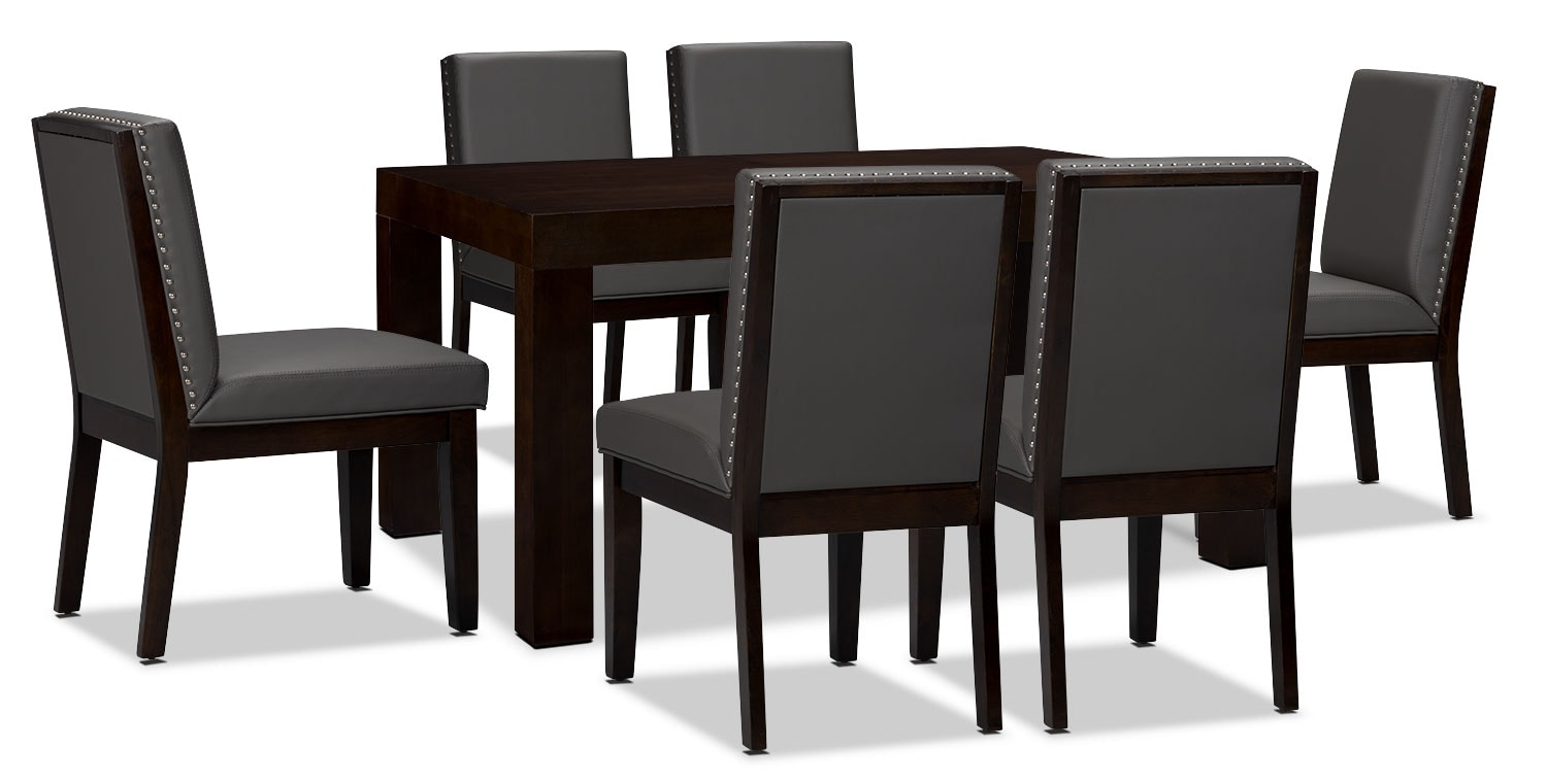Dining Room Furniture - Couture 7-Piece Dining Package - Grey