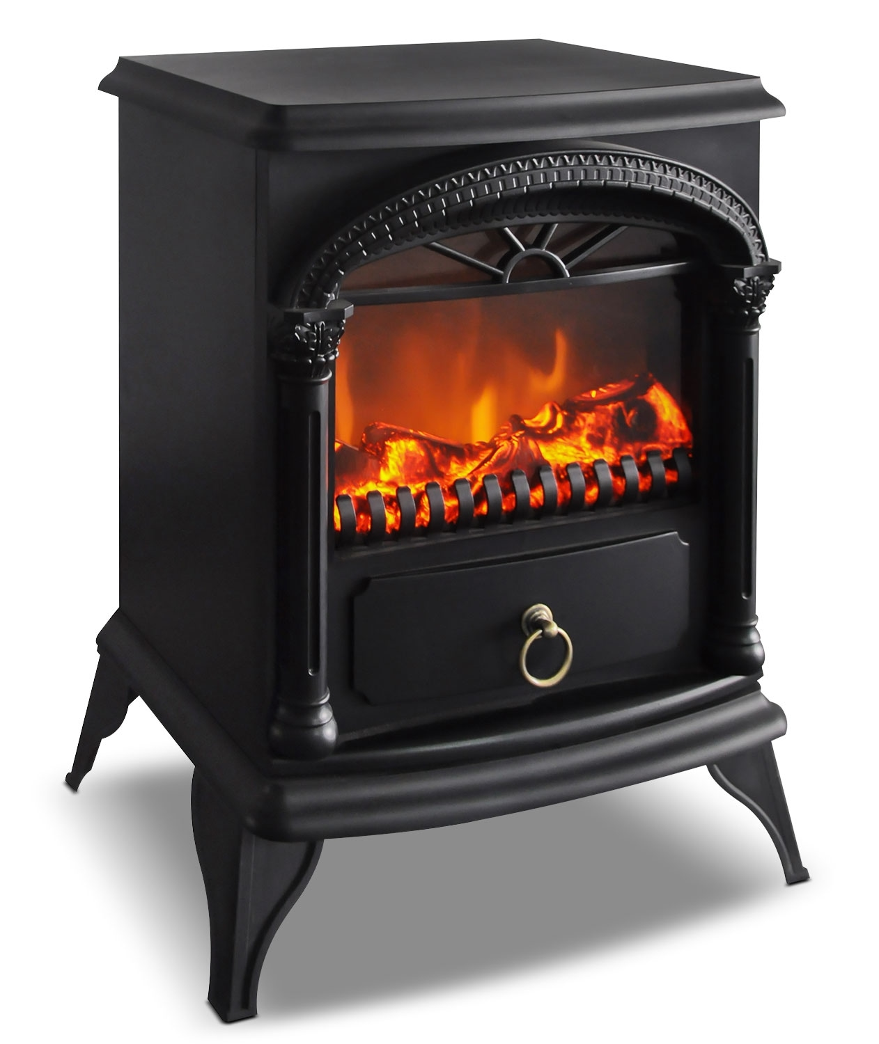 "Accent and Occasional Furniture - Norfolk 15"" Freestanding Electric Fireplace"