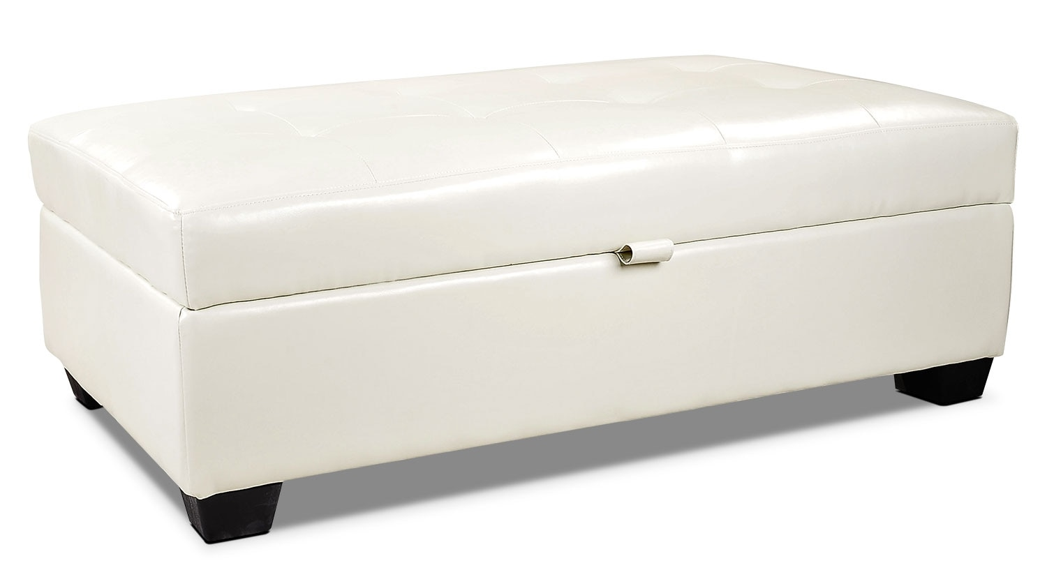 Accent and Occasional Furniture - Fresno Storage Ottoman – Cream