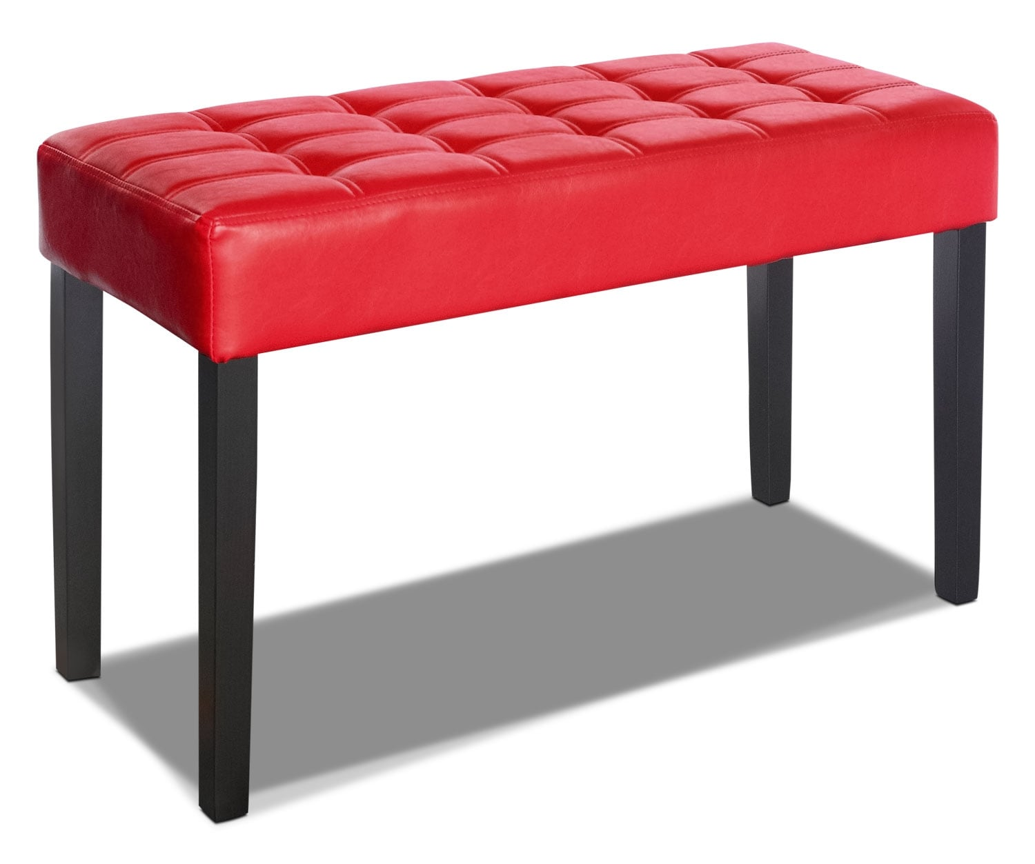 Cali Tufted Bench – Red