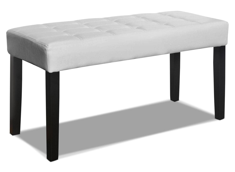 Cali Tufted Bench – White