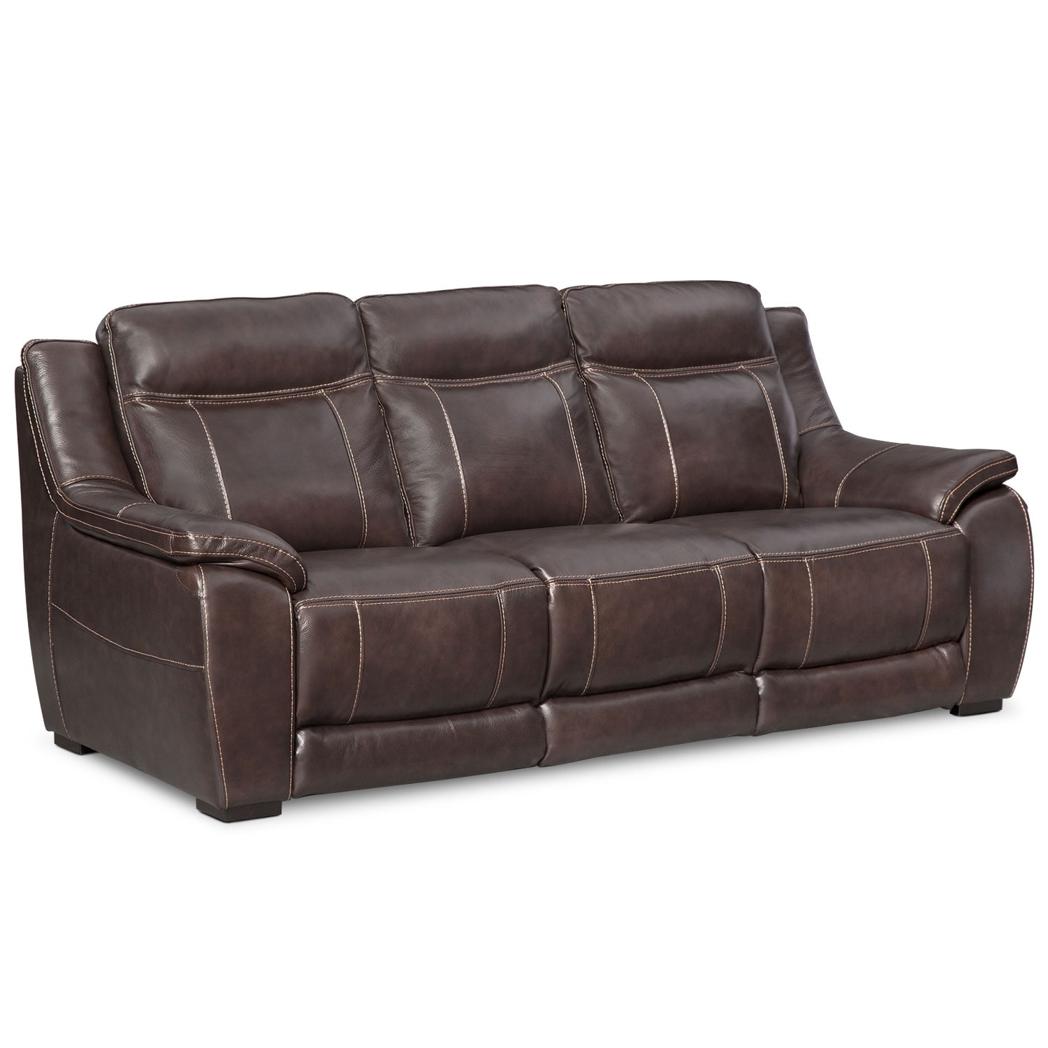Lido sofa and loveseat set brown american signature for Brown fabric couch