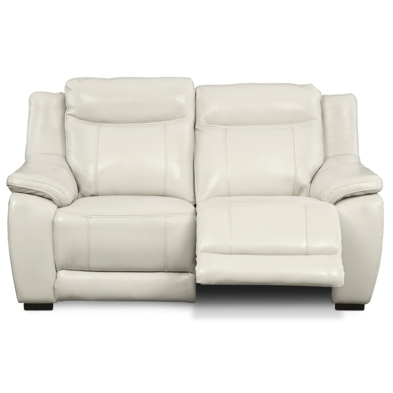 Lido Ivory Power Reclining Loveseat Value City Furniture