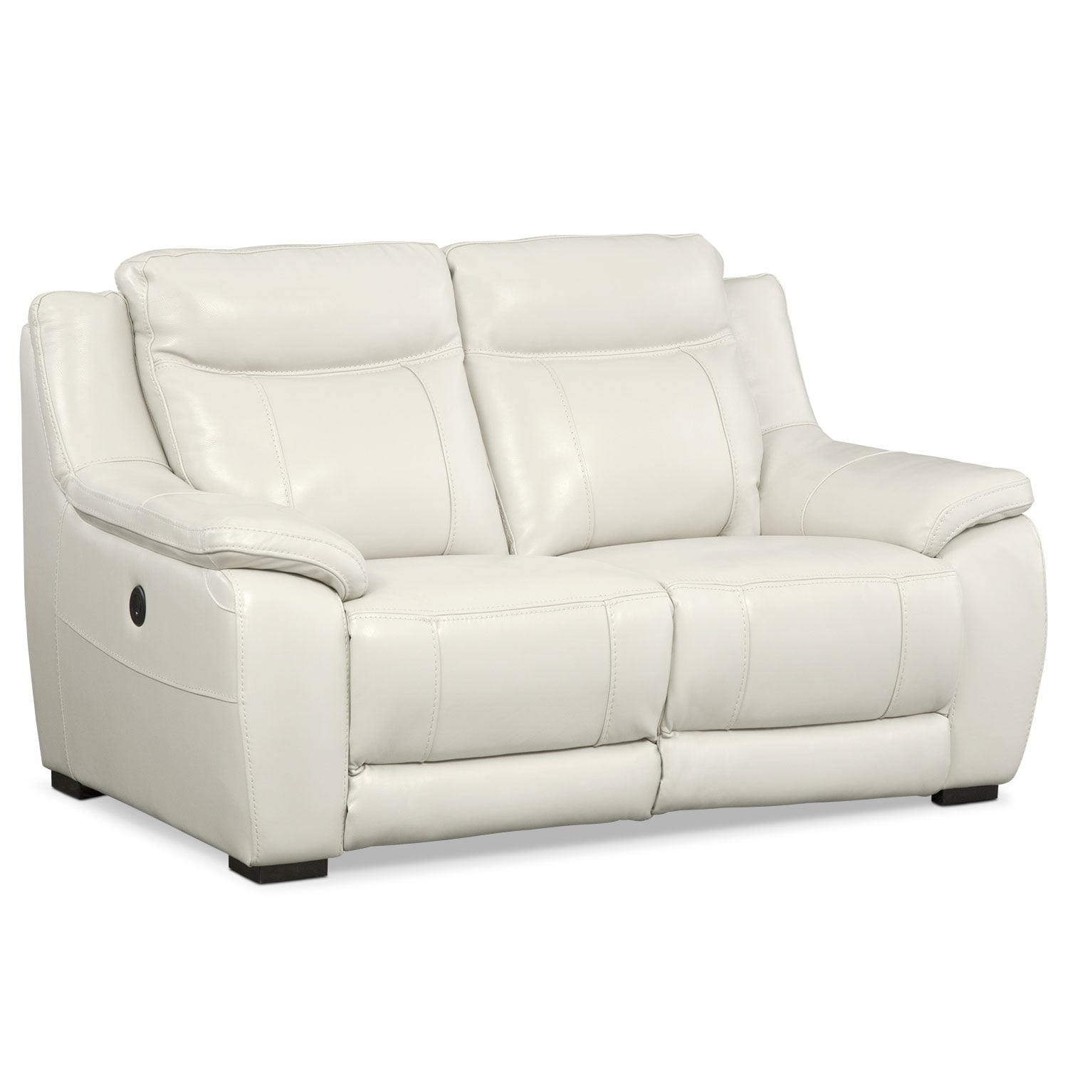 Lido power reclining sofa reclining loveseat and recliner set ivory value city furniture Sofa loveseat