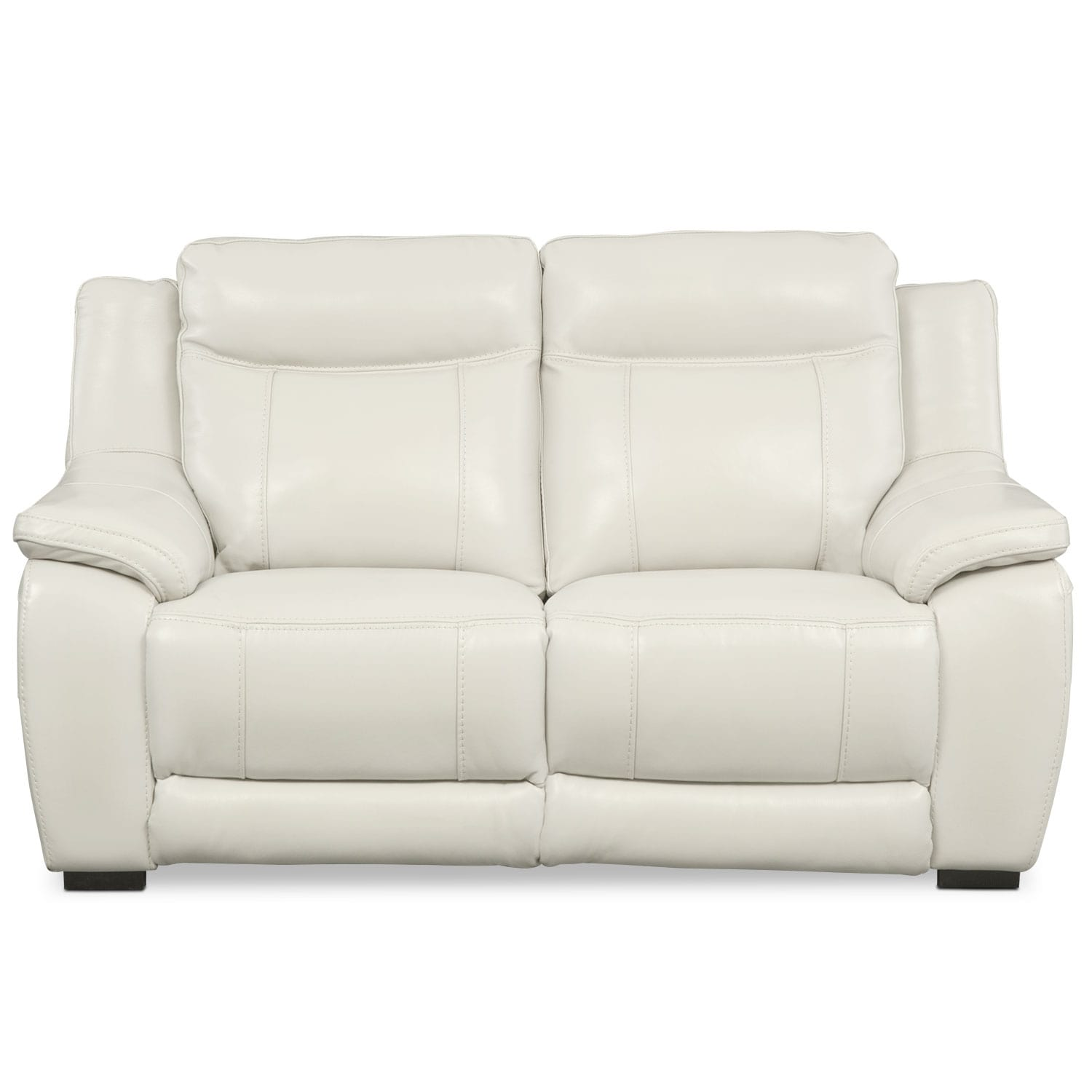 Lido Power Reclining Loveseat Ivory Value City Furniture