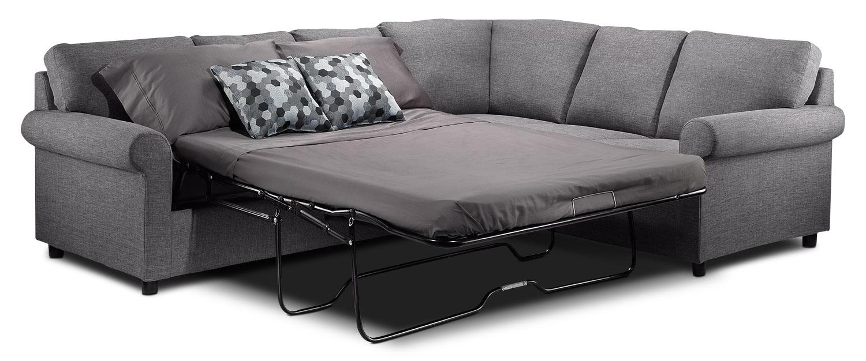 Tambora 2 piece sofabed sectional grey leon 39 s for Divan lit sectionnel leon