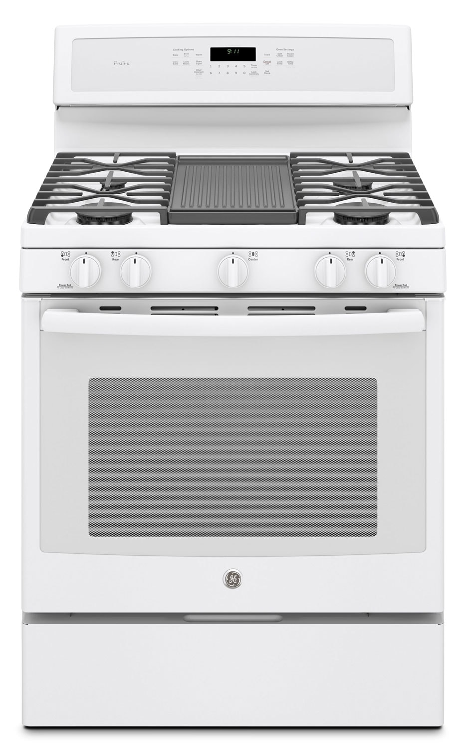 Cooking Products - GE 5.6 Cu. Ft. Freestanding Gas Range - PCGB911DEJWW