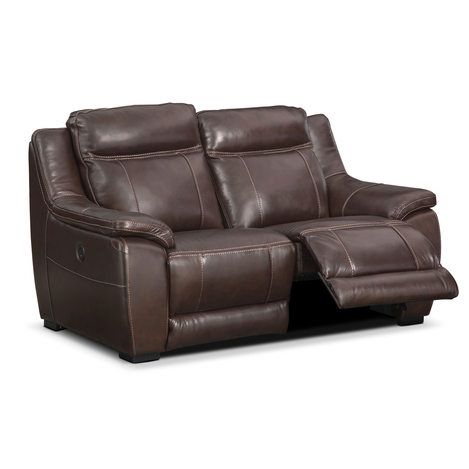 Lido Power Reclining Loveseat Brown Value City Furniture