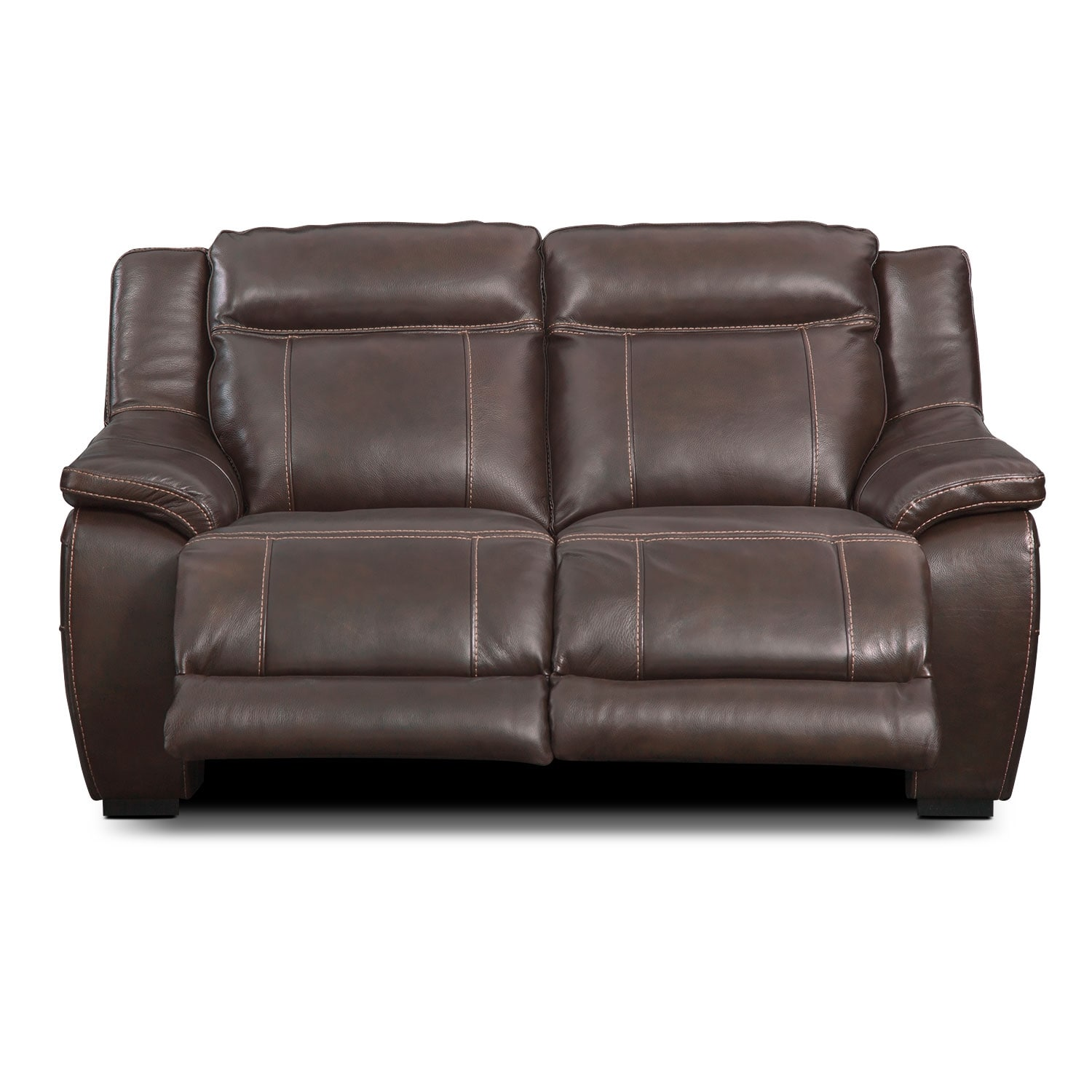 Lido Brown Power Reclining Loveseat Value City Furniture