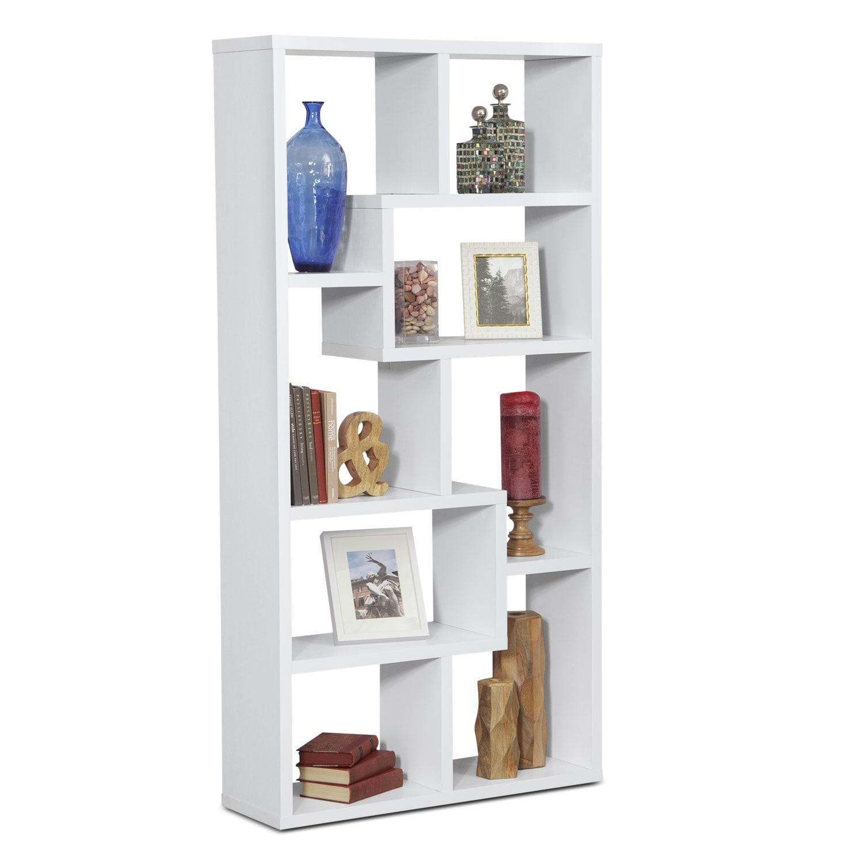 Obsidian Bookcase - White