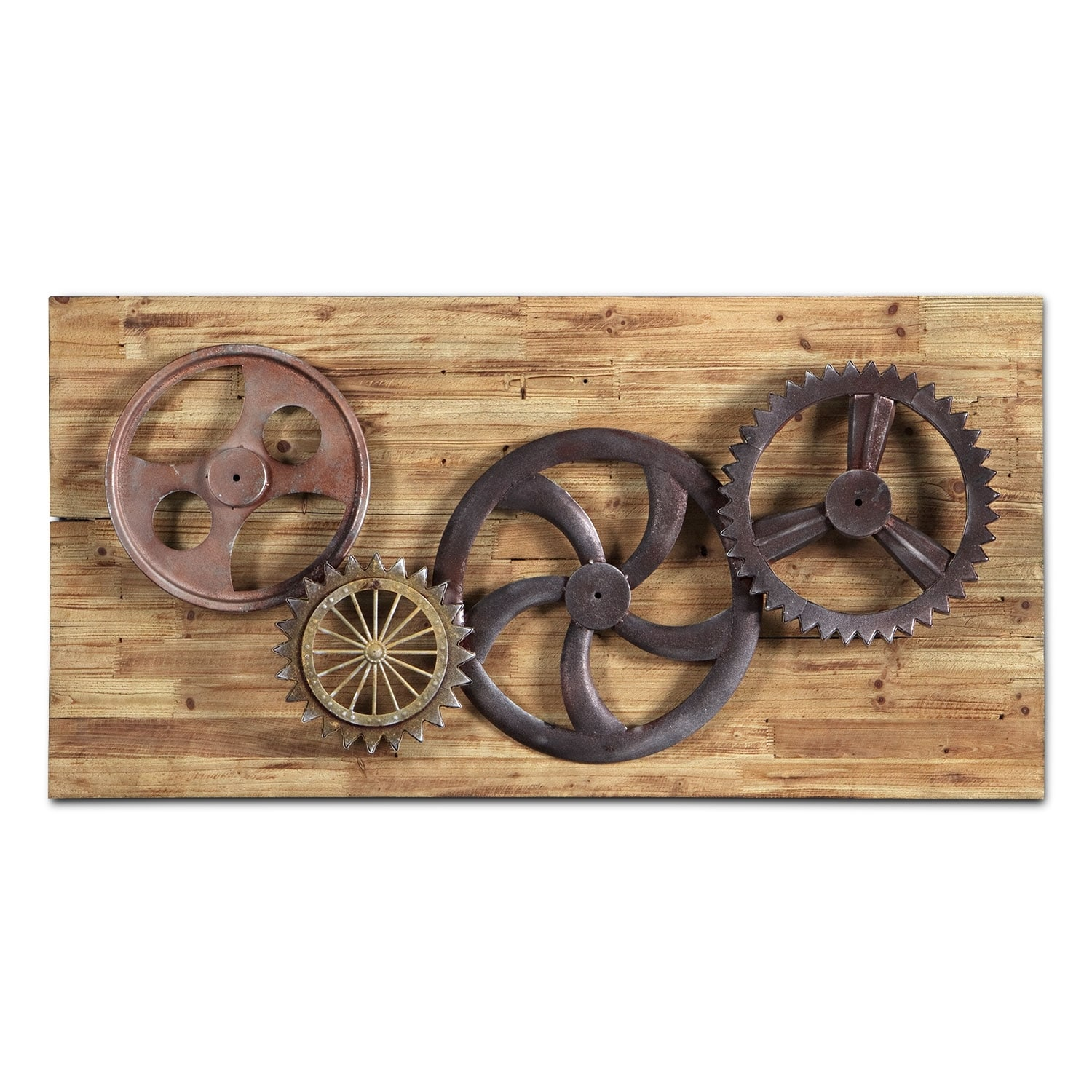 Wall Decor Gears : Industrial gears wall d?cor value city furniture