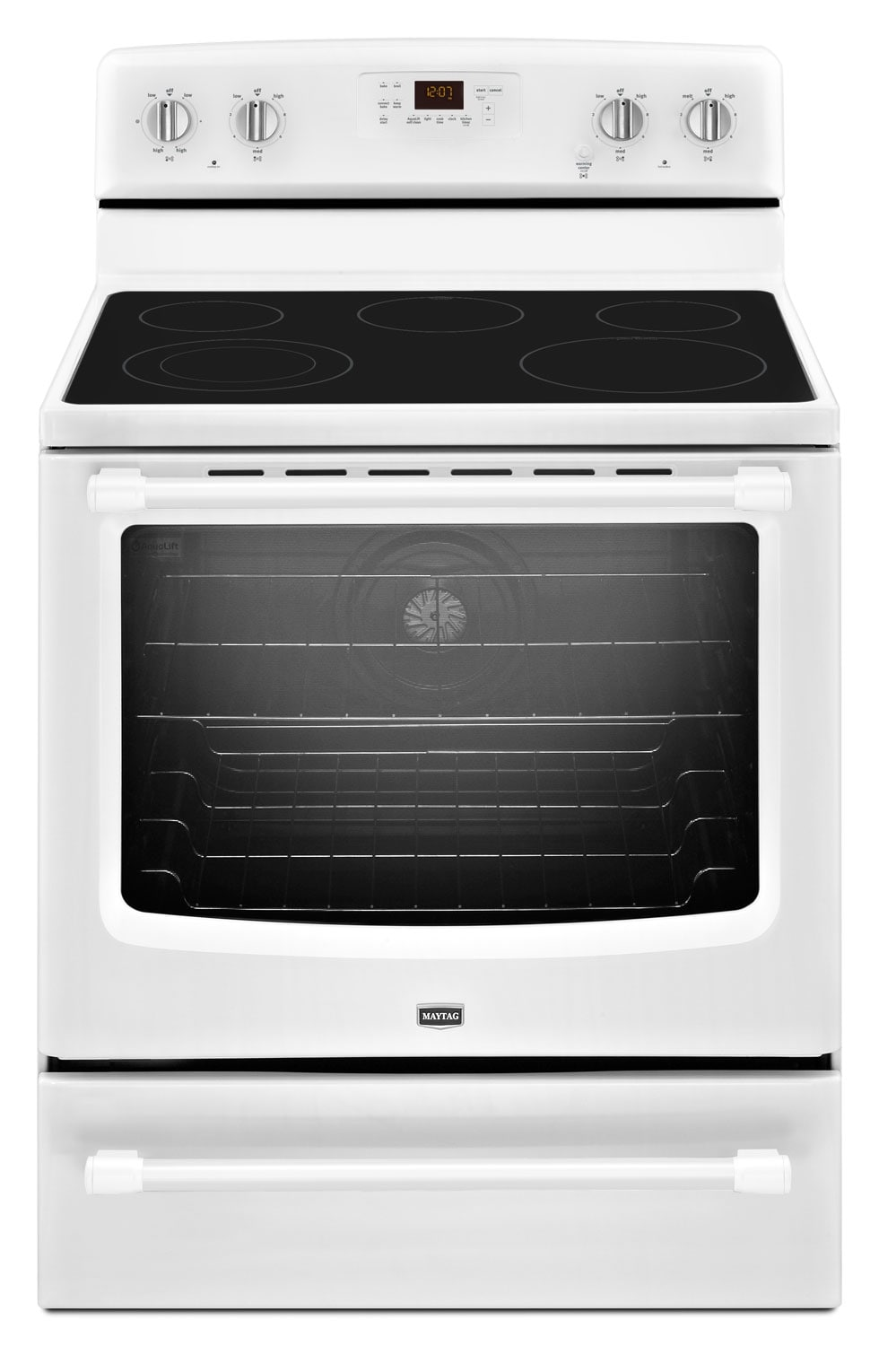 [Maytag White Freestanding Electric Convection Range (6.2 Cu. Ft.) - YMER8700DW]