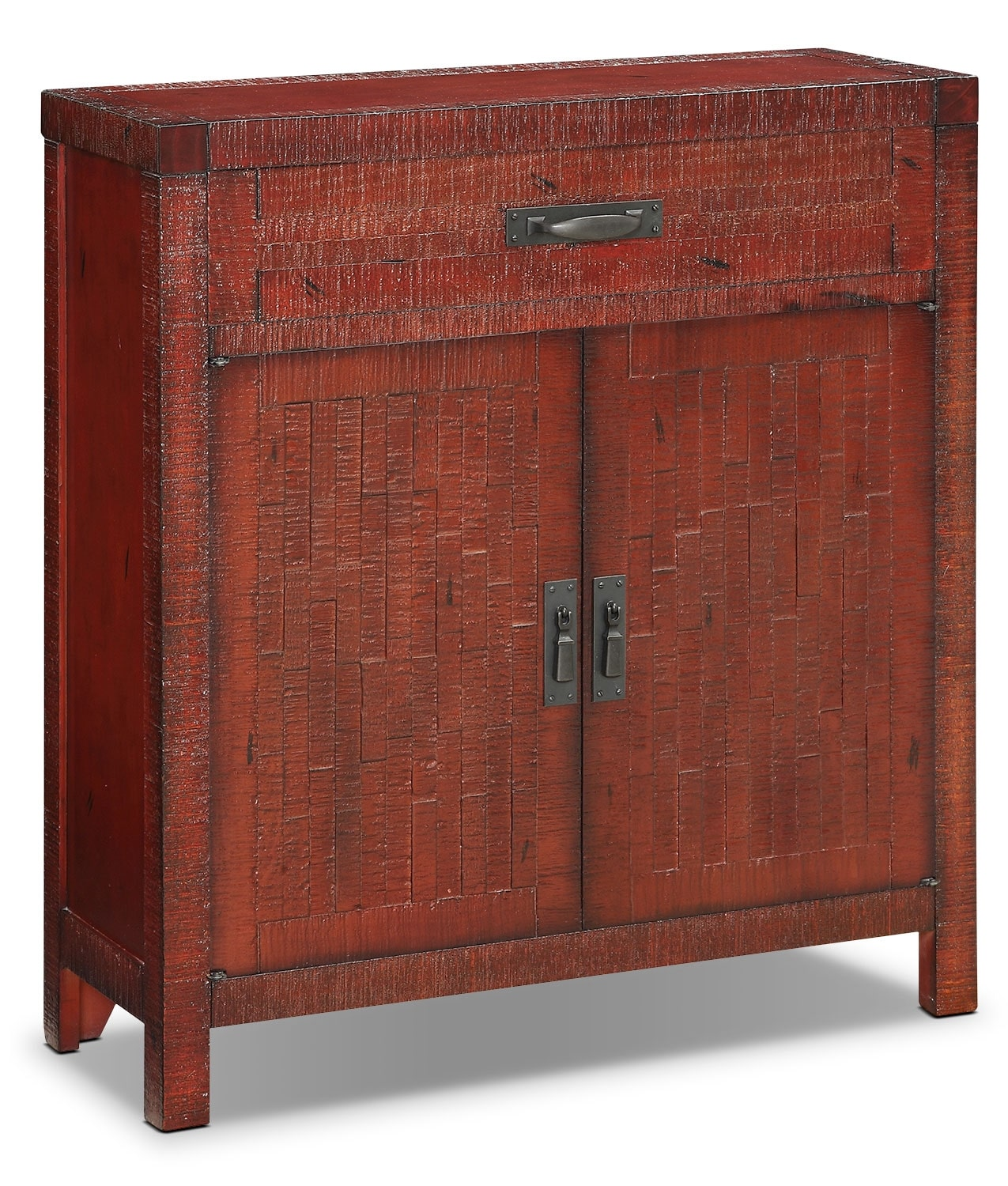 Acacia 2-Door Accent Cabinet – Red
