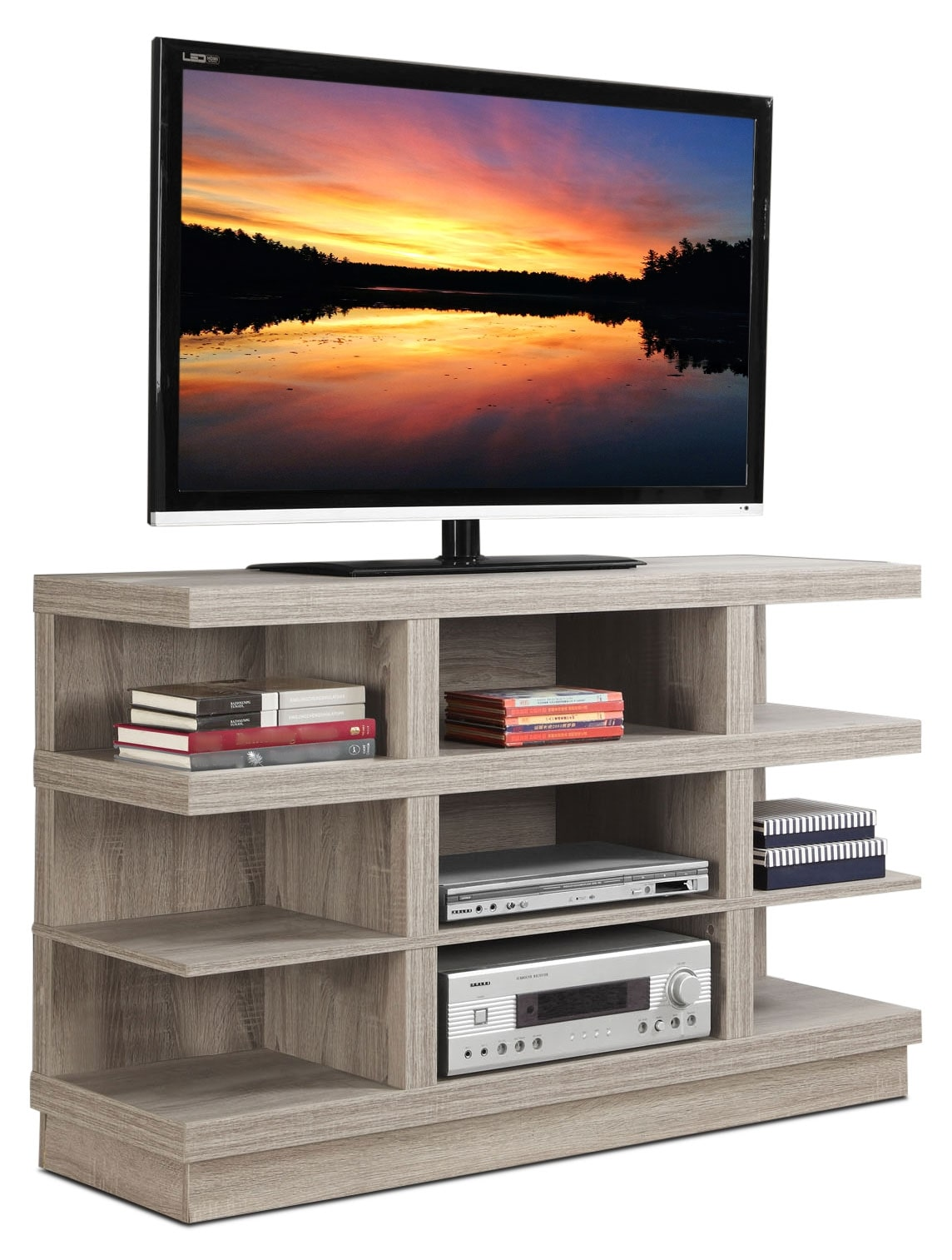 Entertainment Furniture - Online Only - Mercer TV Stand - Taupe