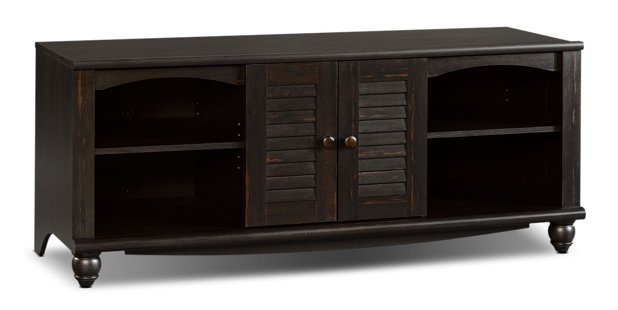 "Entertainment Furniture - Baytona 63"" TV Stand - Antiqued Brown"