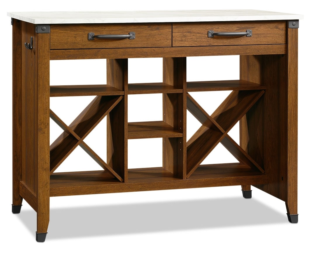 Accent and Occasional Furniture - Carson Forge Gourmet Stand – Washington Cherry