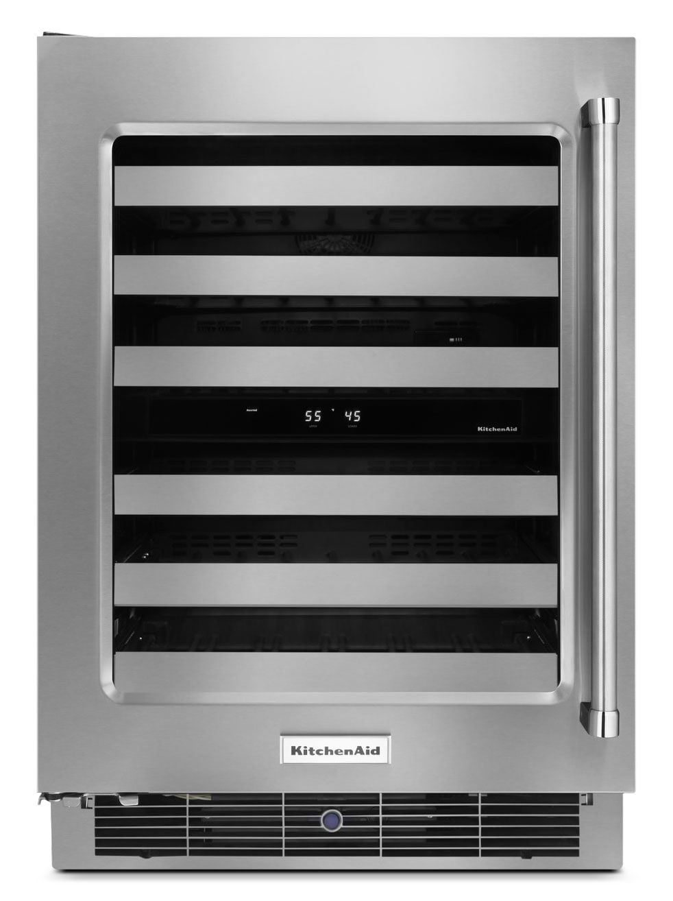 Refrigerators and Freezers - KitchenAid Wine Cellar with Right-Door Swing – KUWL304ESS