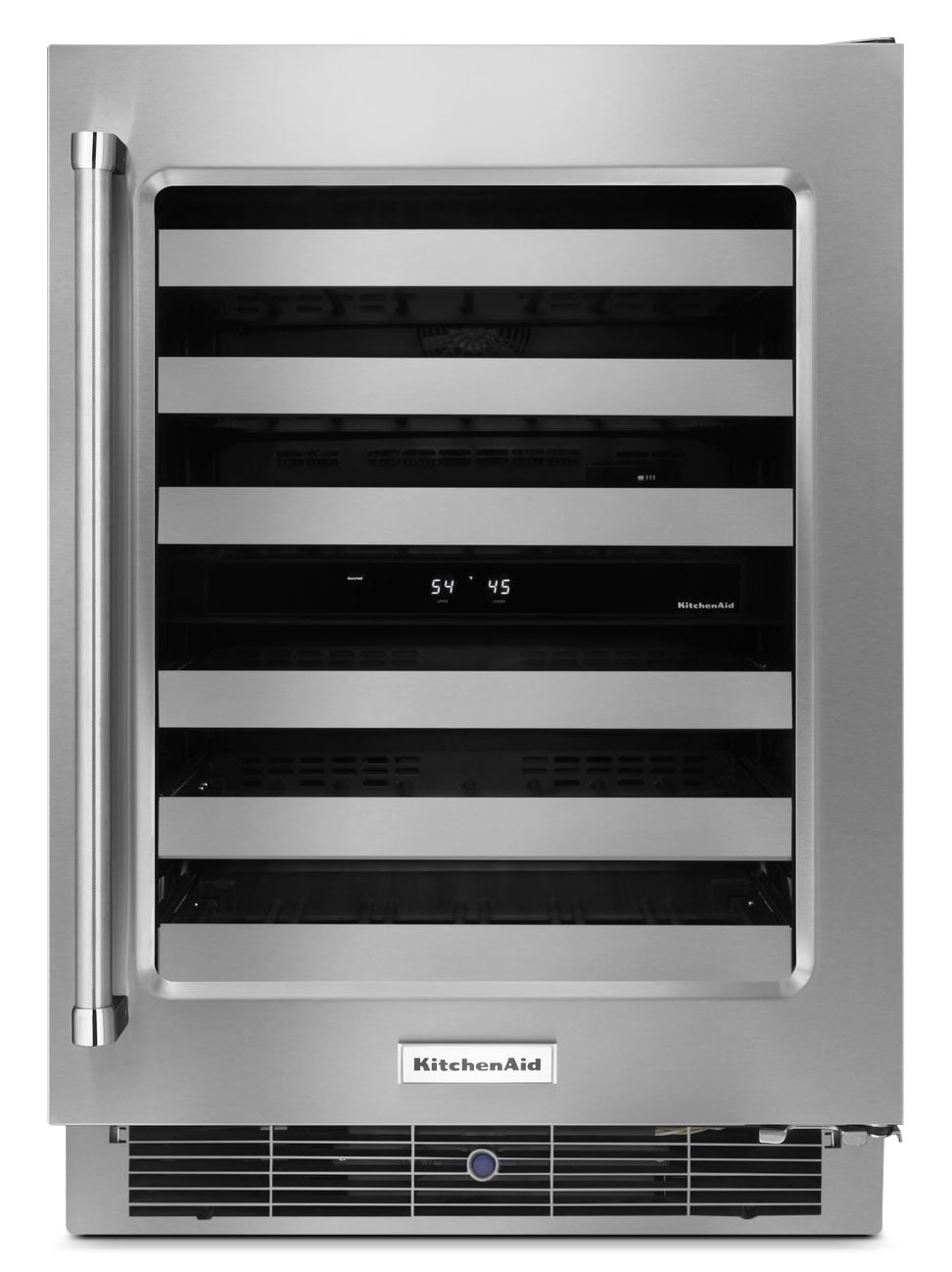 Refrigerators and Freezers - KitchenAid Wine Cellar with Right-Door Swing – KUWR304ESS