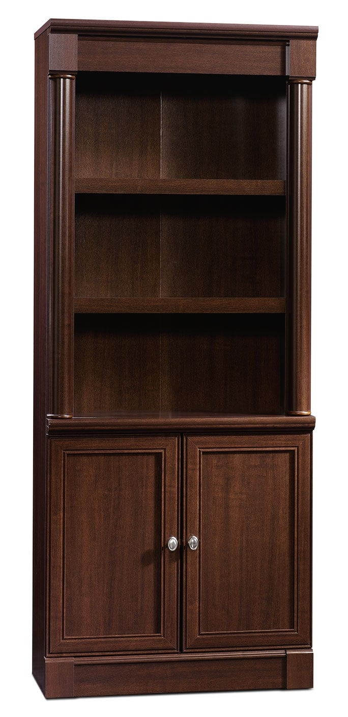 Home Office Furniture - Palladia Library with Doors – Select Cherry