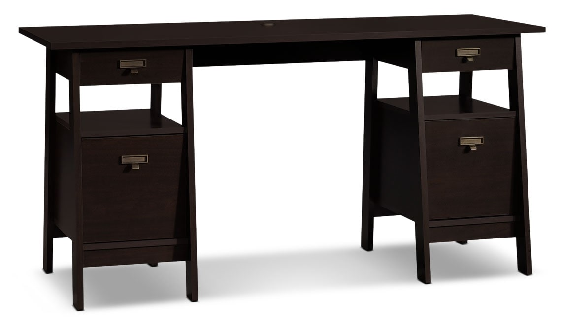 "Stockbridge 59"" Desk – Jamocha Wood"
