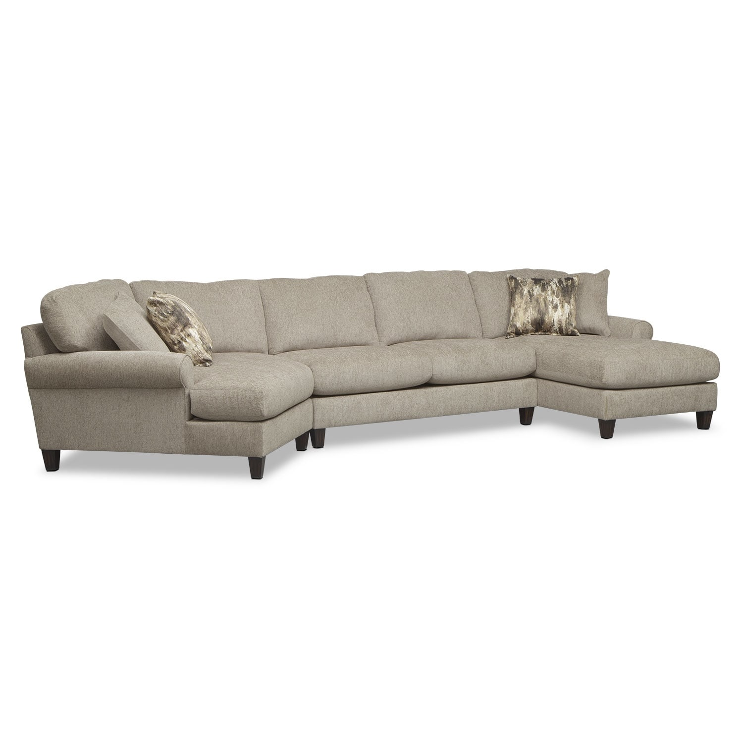 Karma 3-Piece Sectional With Left-Facing Cuddler And Right