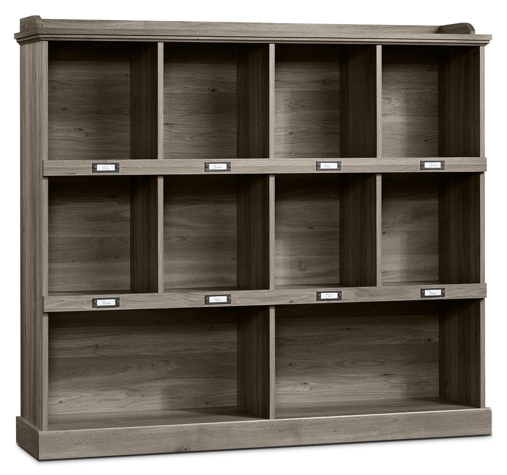Barrister Lane Wide Bookcase Salt Oak The Brick