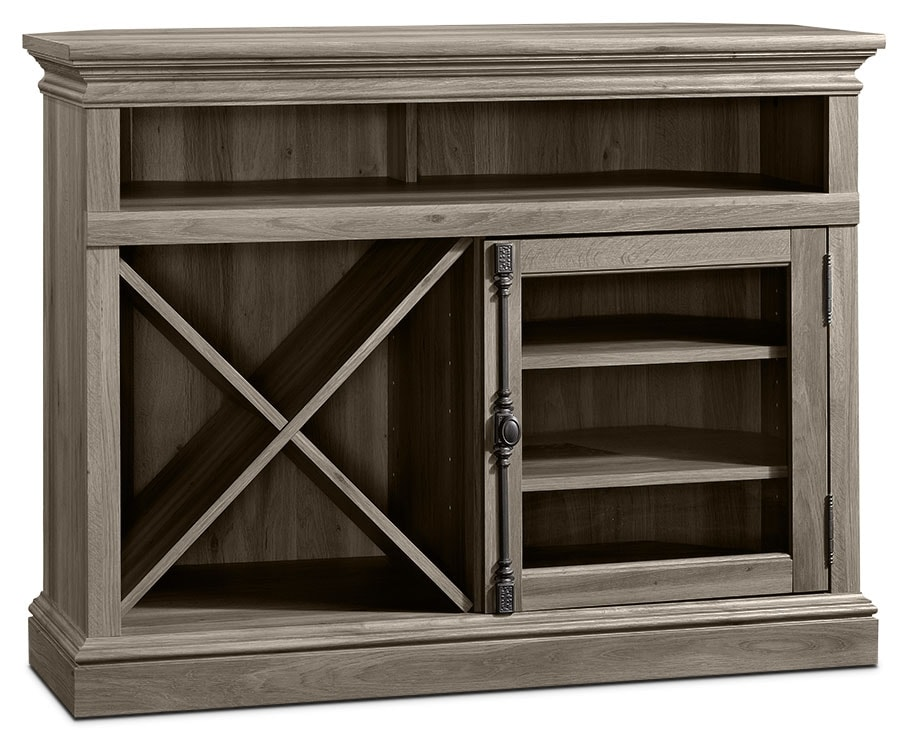 "Barrister Lane 43"" Corner TV Stand – Salt Oak"