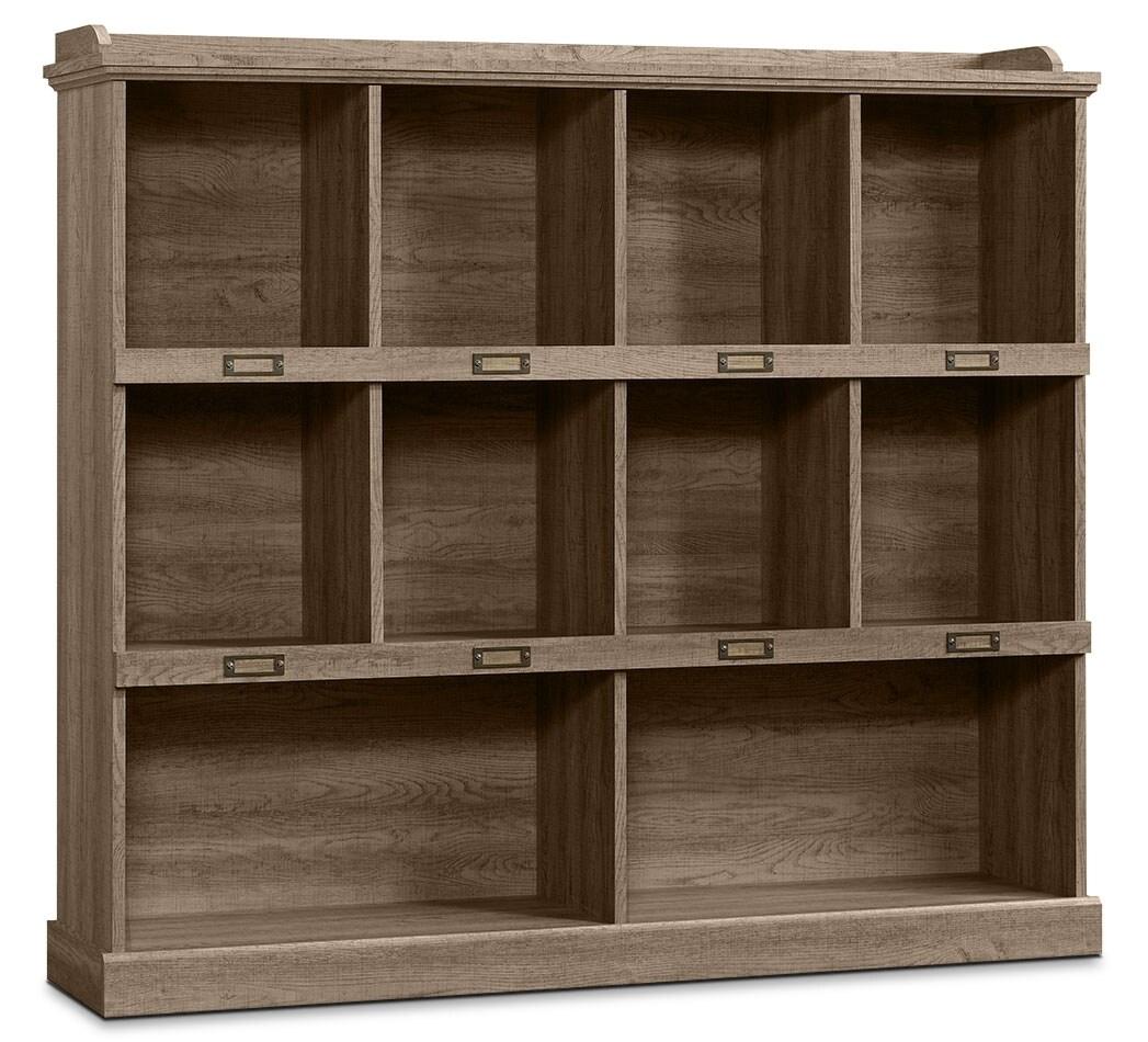 Barrister Lane Wide Bookcase - Scribed Oak