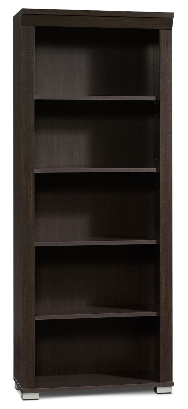 Town Bookcase with Five Shelves – Jamocha Wood