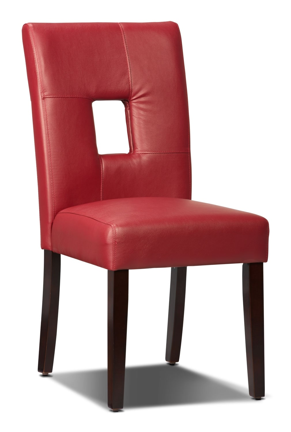 McKena Faux Leather Dining Chair – Red