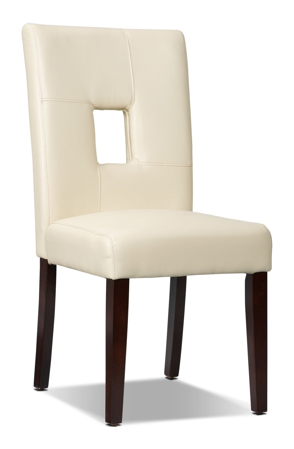 mckena faux leather dining chair white the brick