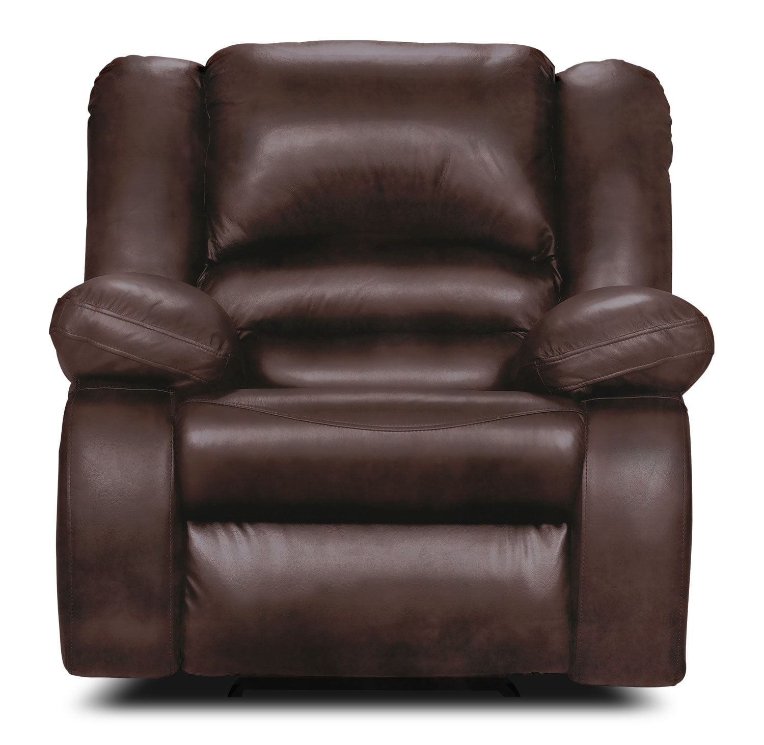 Living Room Furniture - Toreno Brown Genuine Leather Reclining Chair
