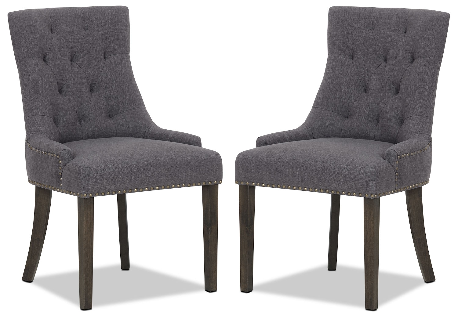 Caroline Wing Side Chair, Set of 2 – Grey