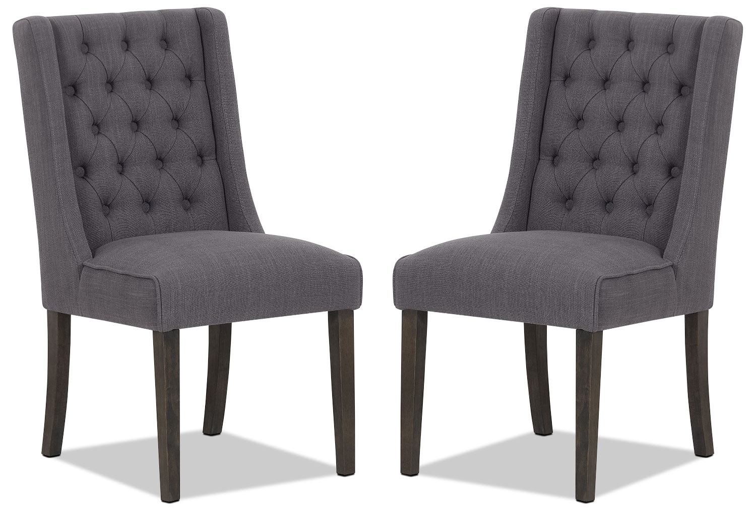 Caroline Wing Chair, Set of 2 – Grey