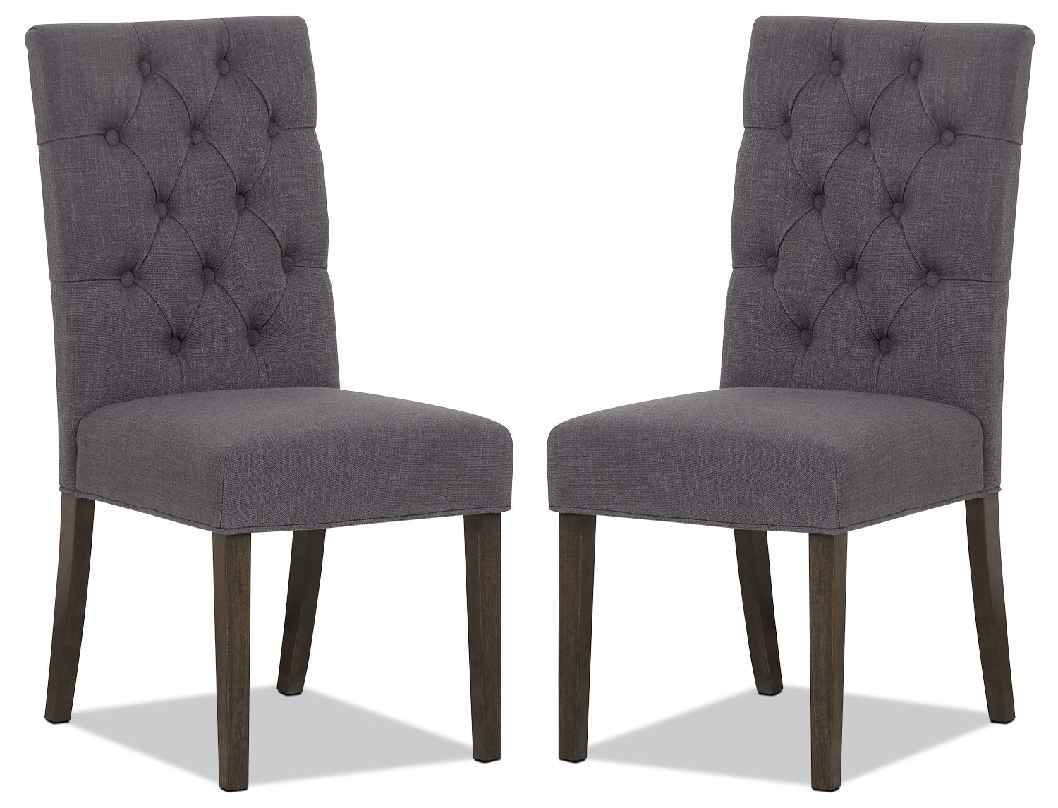 Caroline side chair set of 2 grey the brick for The brick kitchen tables