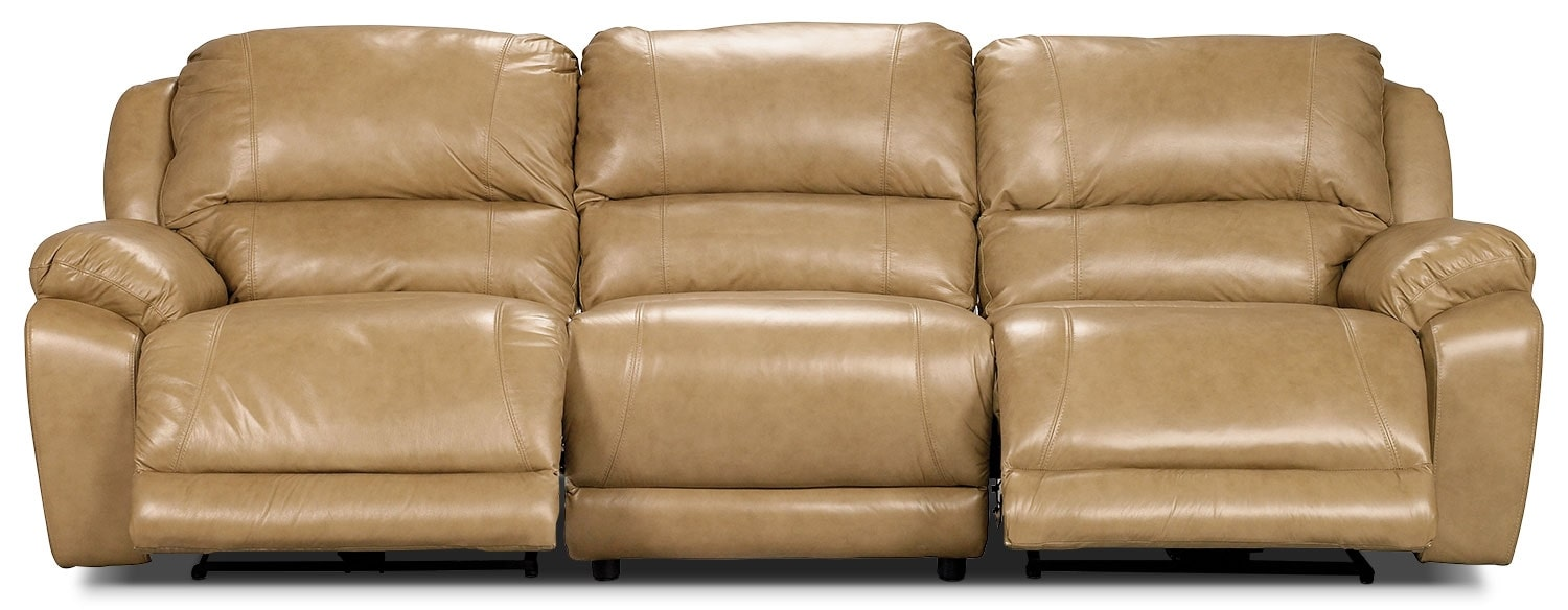 Marco Genuine Leather 3-Piece Power Reclining Sectional – Toffee