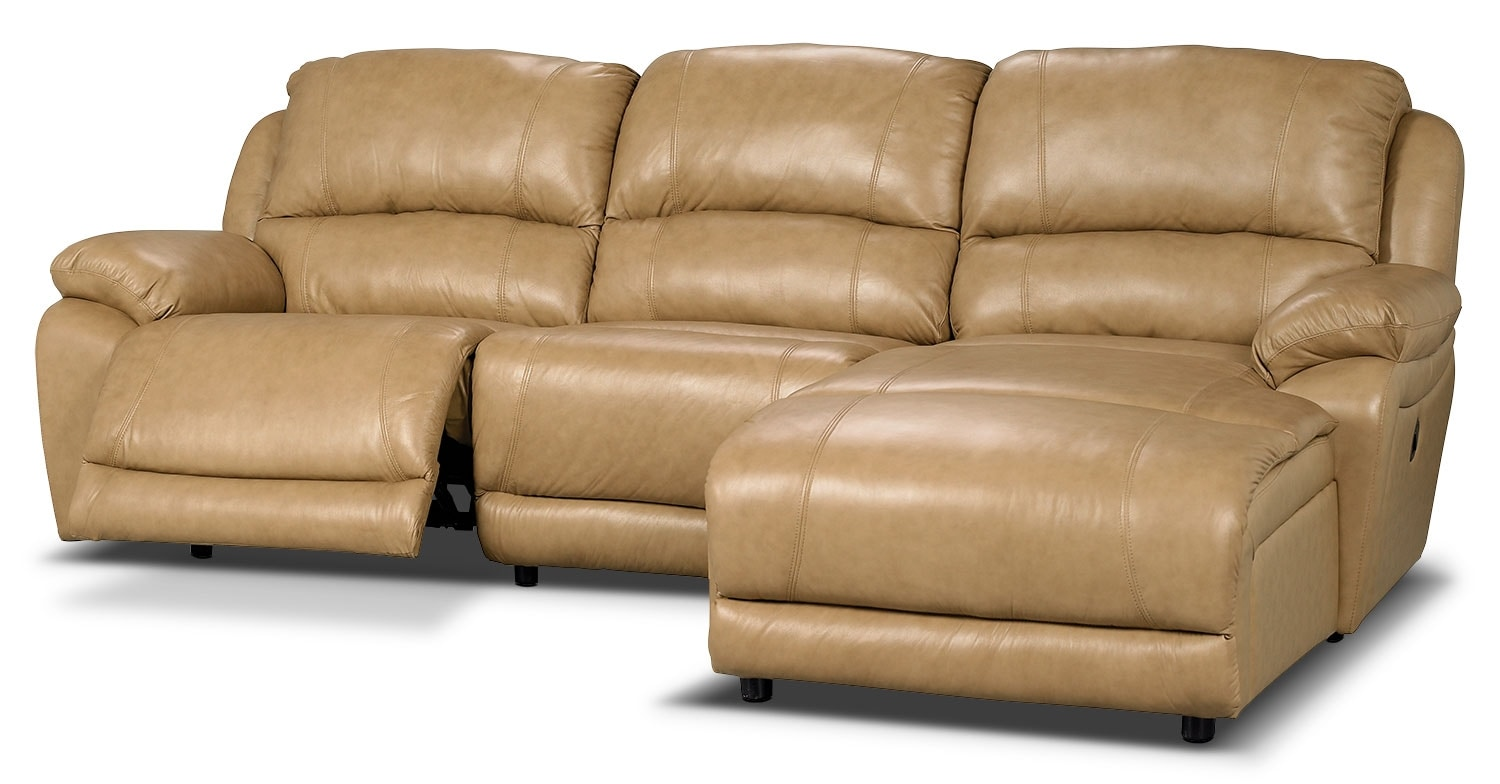 Marco genuine leather 3 piece sectional with right facing for 3 piece leather sectional sofa with chaise