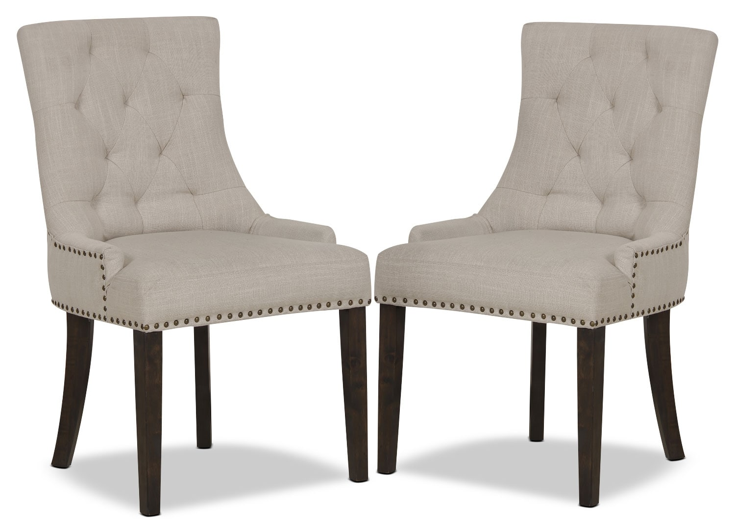 Dining Room Furniture - Caroline Wing Side Chair, Set of 2 – Ivory
