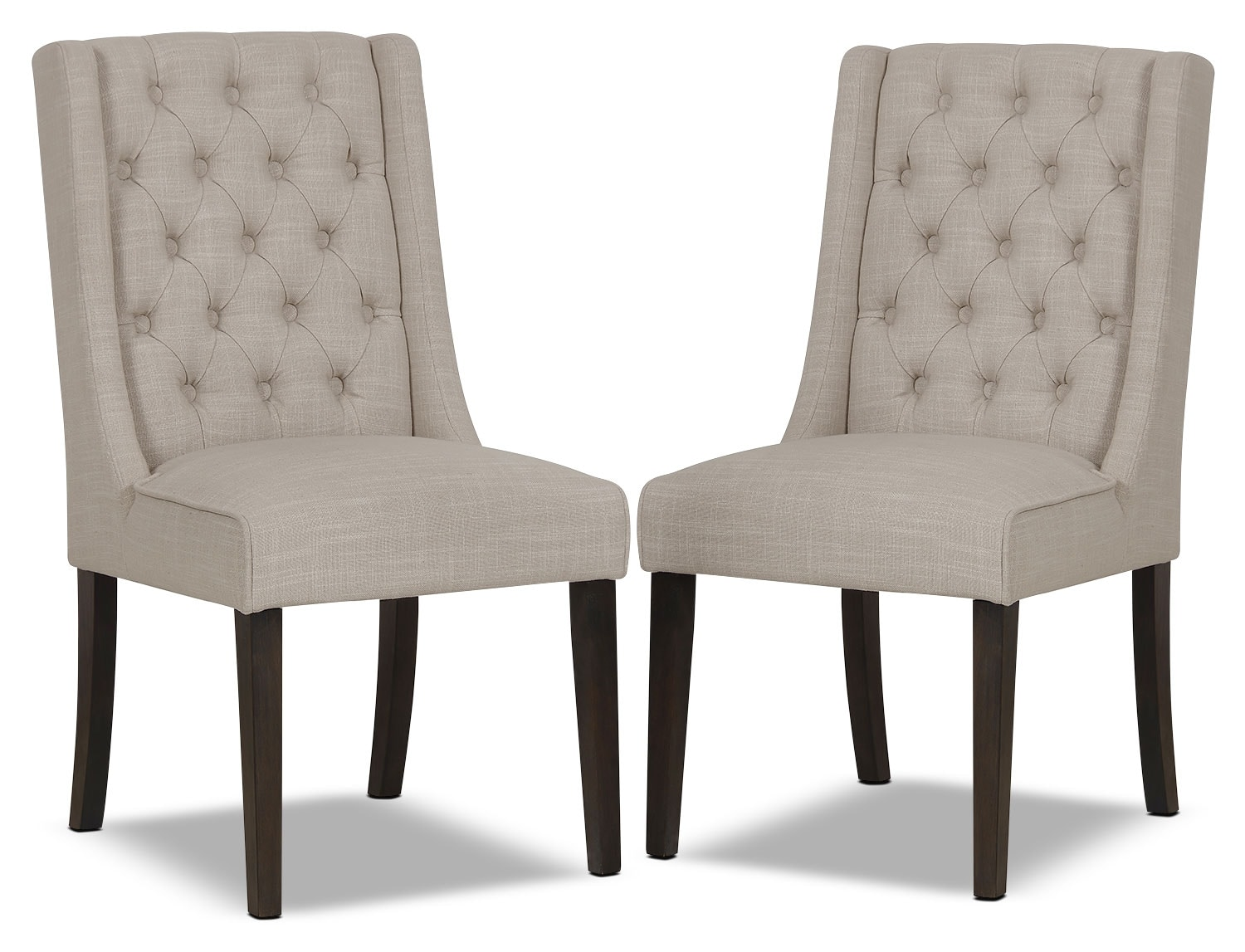 Caroline wing chair set of 2 ivory the brick for Dining room sofa seating