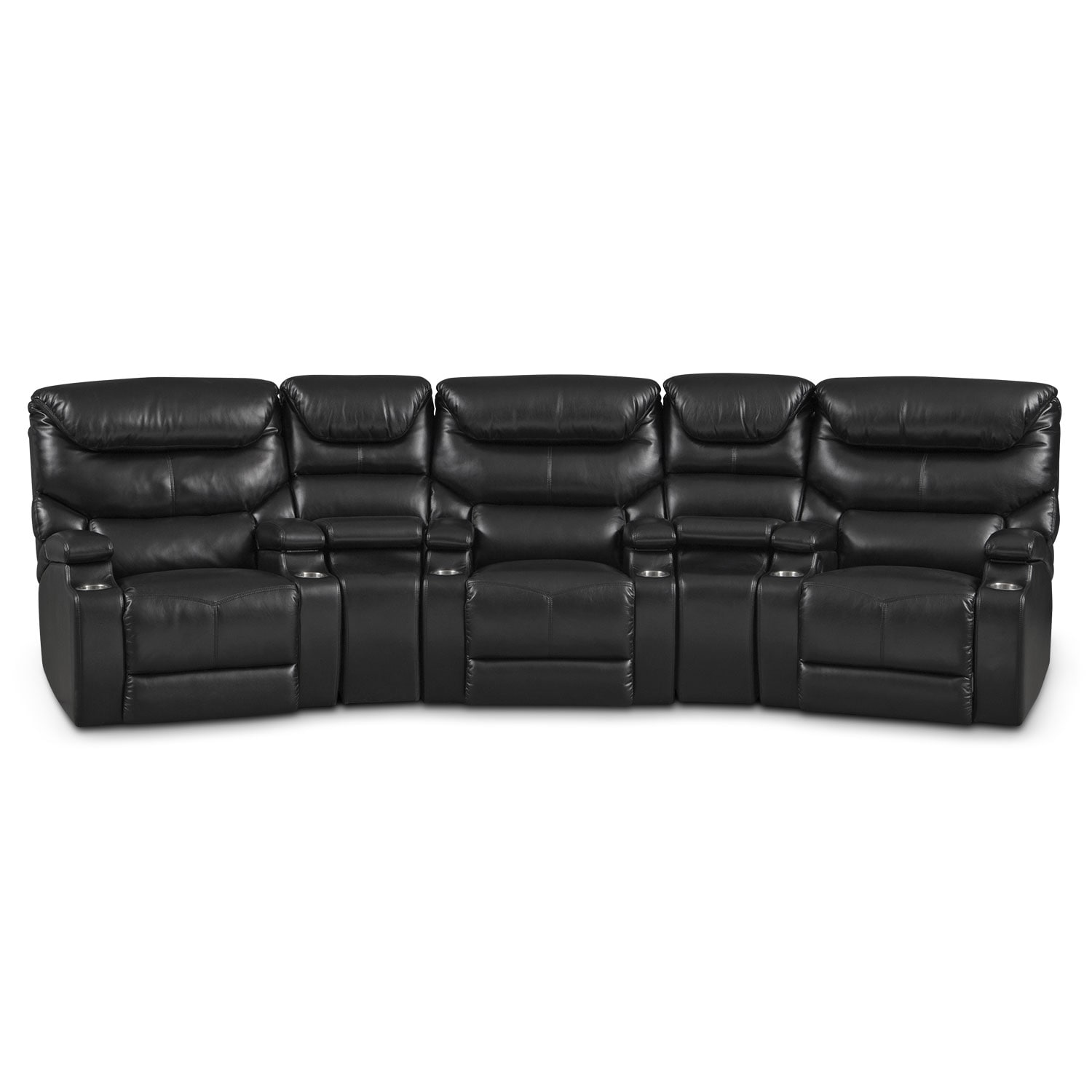 [Jupiter Black 5 Pc. Power Home Theater Sectional]