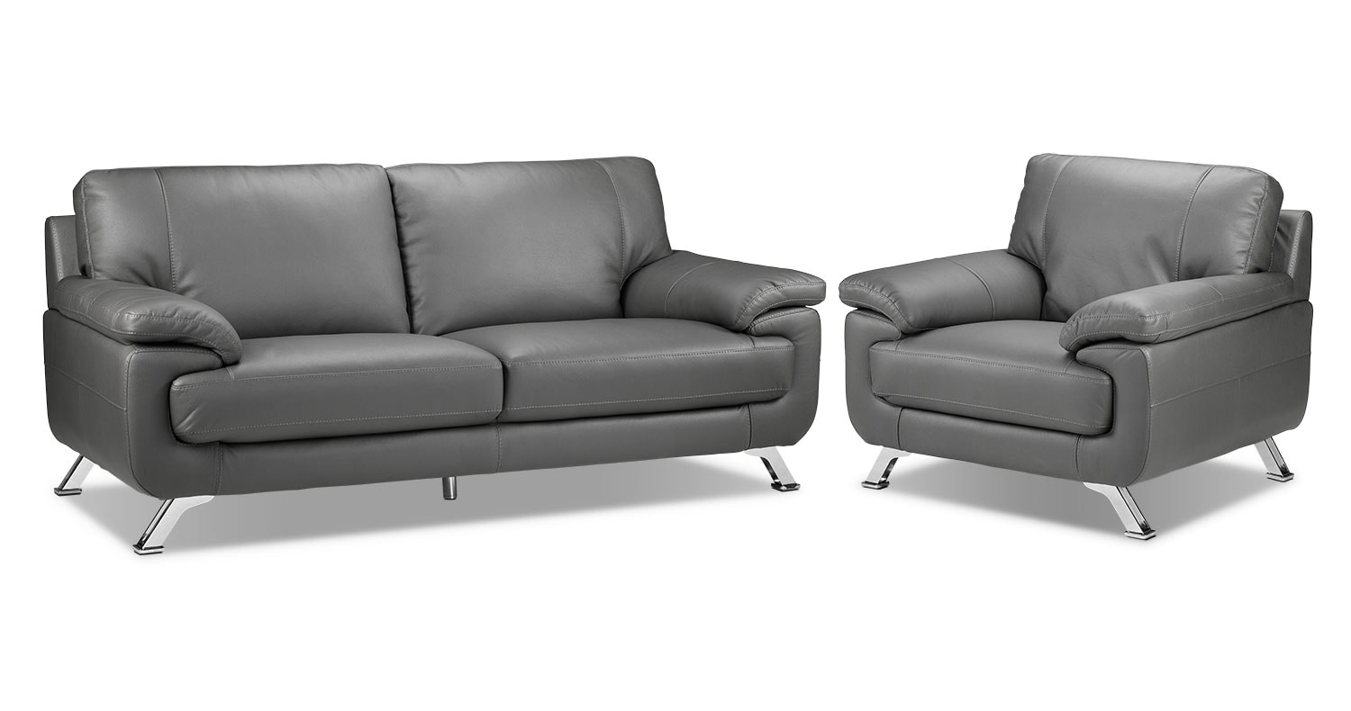 Infinity Sofa and Chair Set - Grey